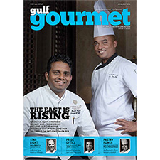 Chef KAC Prasad, Miramar Al Aqah's Director of Culinary and his executive sous chef Nishan Jayasinghe.