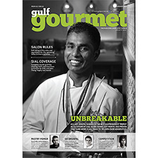 Radisson Blu DDC Chef Hillary Joseph graces the Gulf Gourmet Cover for January 2017